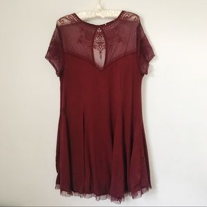 Miami || Crepe and Lace Embellished Trapeze Dress